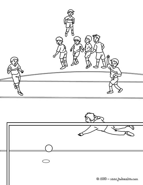 Coloriage football coloriage d 39 un penalty de foot - Coloriage de foot ...