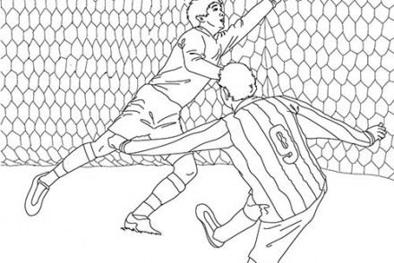 Coloriage football coloriage d 39 un gardien de but de football - Joueur de foot a colorier ...