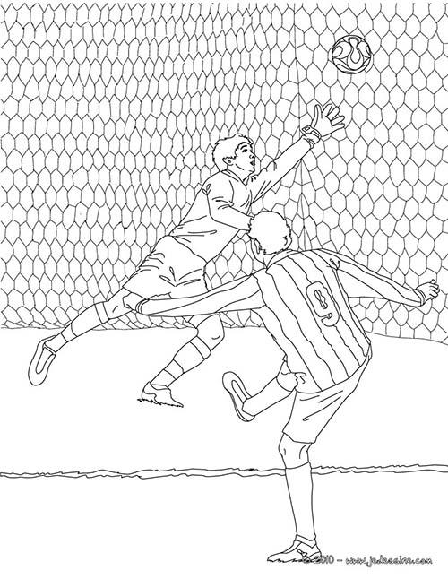 jogador de futebol desenho para colorir