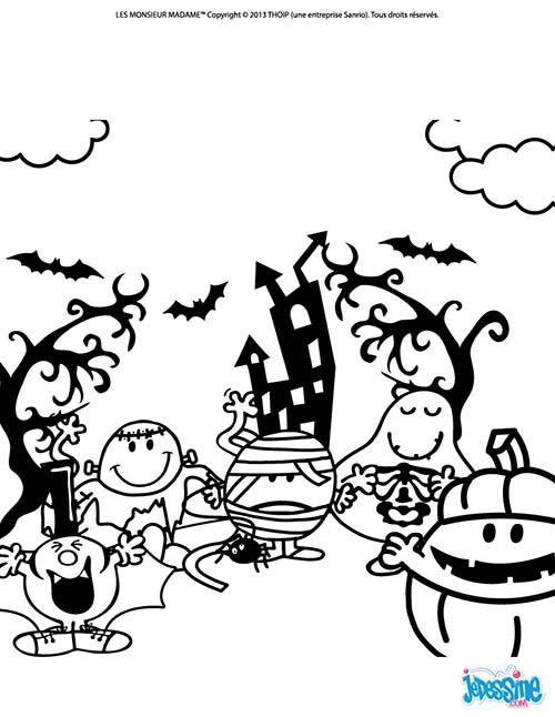 Coloriage halloween des monsieur madame bonne fete de - Coloriage de monsieur madame ...