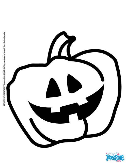 coloriage halloween des monsieur madame citrouille de