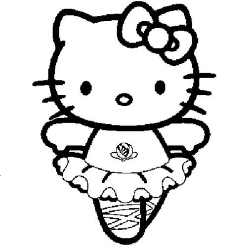 Coloriage hello kitty coloriage de hello kitty en danseuse - Coloriage hello kitty en vacances ...