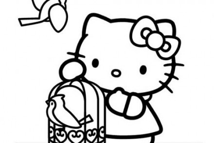 Coloriage-HELLO-KITTY-Coloriage-de-Hello-Kitty-et-la-cage-doiseau.jpg
