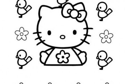 Coloriage-HELLO-KITTY-Coloriage-de-Hello-Kitty-et-les-oiseaux.jpg