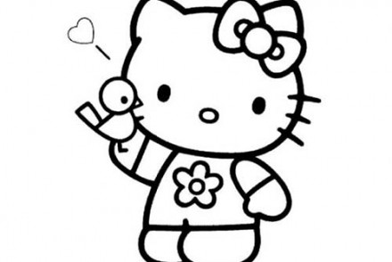 Coloriage-HELLO-KITTY-Coloriage-de-Hello-Kitty-et-son-ami-loiseau.jpg