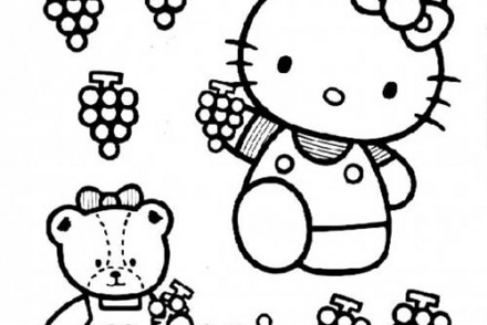 Coloriage-HELLO-KITTY-Coloriage-de-Hello-Kitty-qui-cueille-du-raisin.jpg