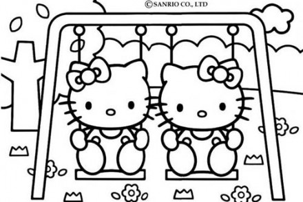 Coloriage-HELLO-KITTY-Coloriage-de-Hello-Kitty-sur-la-balancoire.jpg