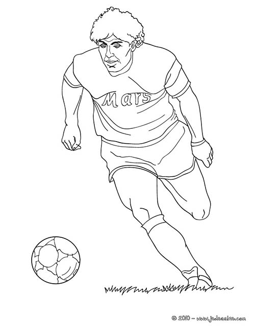 Coloriage joueurs de foot diego armando maradona - Dessin de joueur de foot a imprimer ...