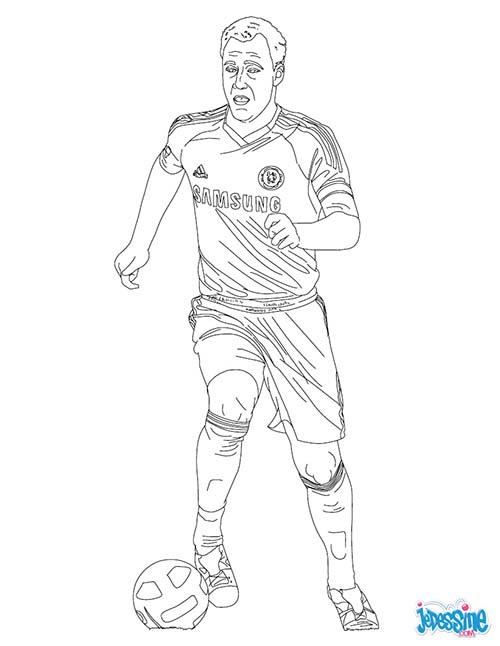 Coloriage joueurs de foot john terry - Coloriage de foot ...
