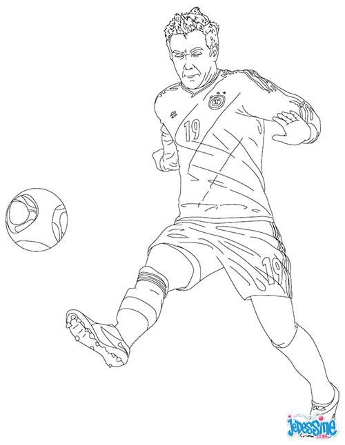 Coloriage joueurs de foot mario gotze - Dessin de joueur de foot a imprimer ...