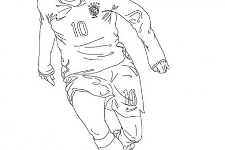Coloriage football coloriage d 39 un footballeur - Coloriage footballeur ...