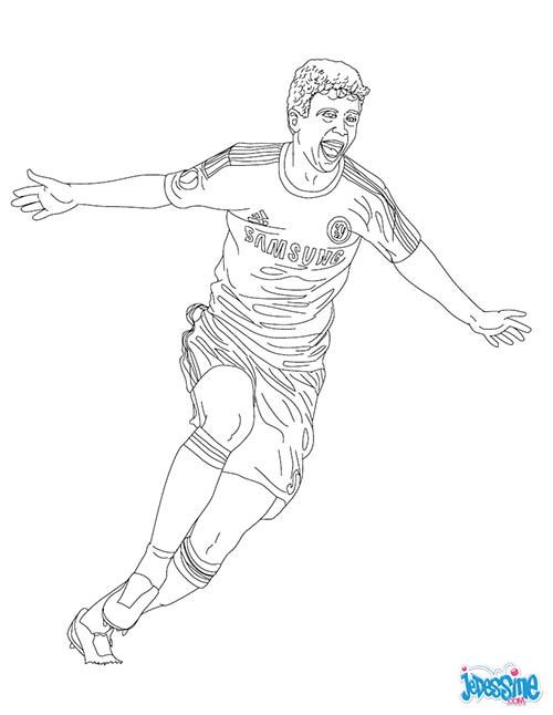 Coloriage joueurs de foot oscar le bresilien - Image de foot a imprimer ...