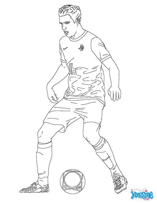 Coloriage joueurs de foot robin van persie - Ronaldo coloriage ...