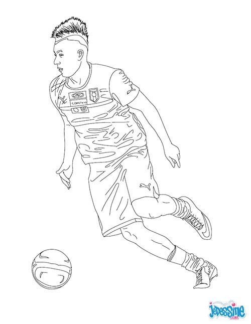 Coloriage joueurs de foot stephan el shaarawy - Image de joueur de foot a imprimer ...