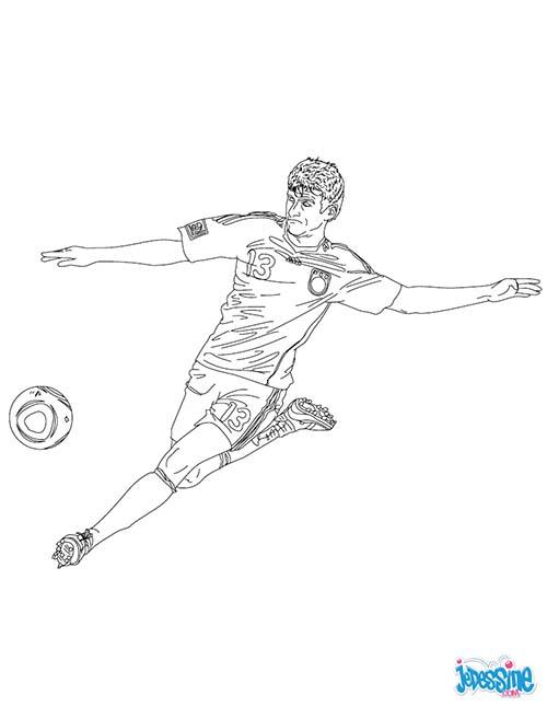 Coloriage joueurs de foot thomas muller - Coloriage de foot ...