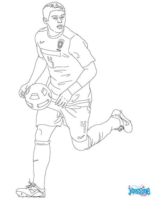 Coloriage joueurs de foot tiago silva - Image de joueur de foot a imprimer ...