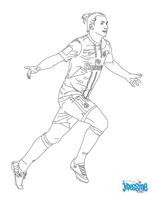 Coloriage joueurs de foot zlatan ibrahimovic - Dessin de joueur de foot a imprimer ...