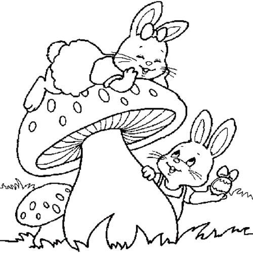 Coloriage lapins de paques lapin de paques - Coloriage lapin paques ...