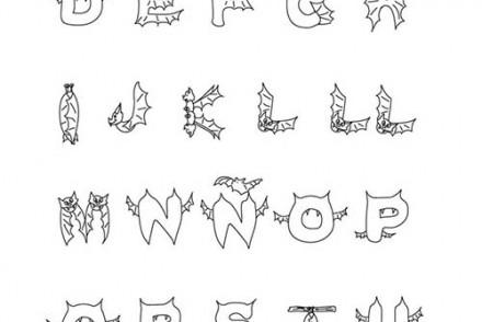 Coloriage enfants deguises pour halloween coloriage de - Lettres a colorier ...