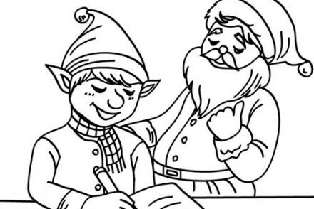Coloriage-Lutins-de-Noel-Petit-lutin-et-la-liste-de-Noel.jpg
