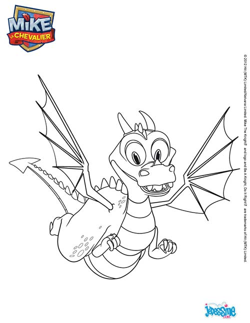Coloriage mike le chevalier coloriage dragon azul - Coloriage mike le chevalier ...