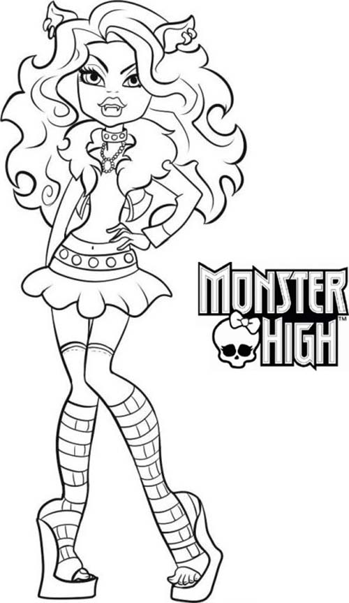 Coloriage monster high clawdeen wolf a imprimer - Coloriage a imprimer monster high ...