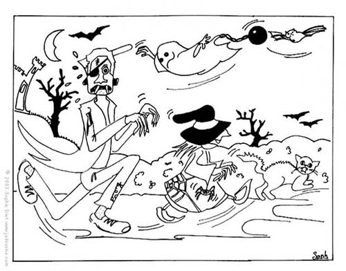 Coloriage monstre halloween la course d 39 halloween - Dessin monstre halloween ...