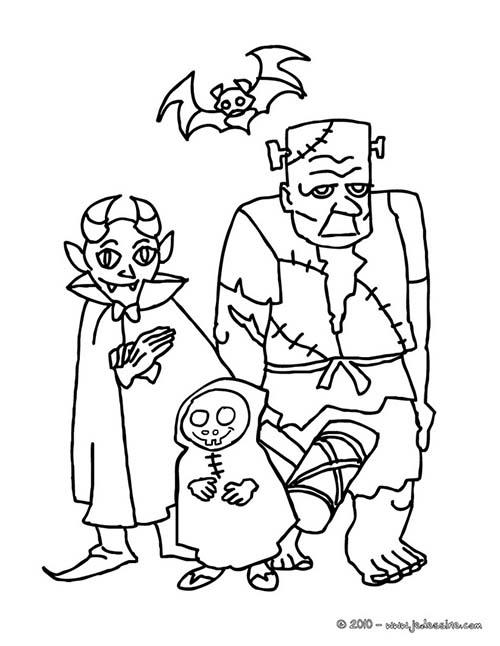 Coloriage monstre halloween monstres halloween a imprimer - Dessin monstre halloween ...