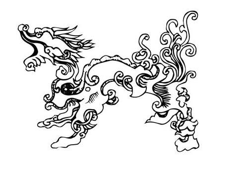 Coloriage nouvel an chinois coloriage d 39 un etrange dragon - Coloriage chinois ...