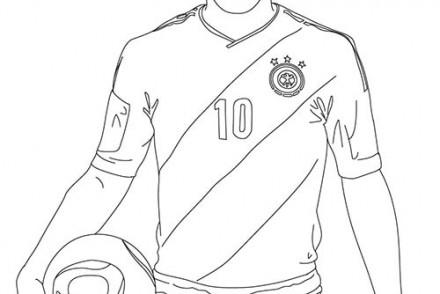 Coloriage football imprimer 1001 - Image de joueur de foot a imprimer ...