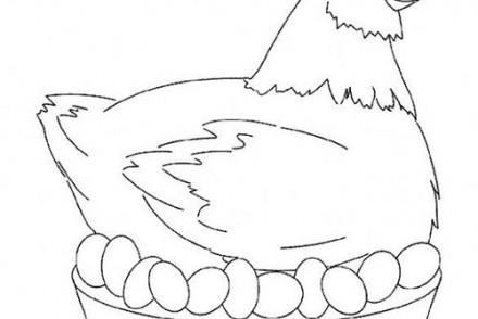 Coloriage paques imprimer 1001 - Image d une poule ...