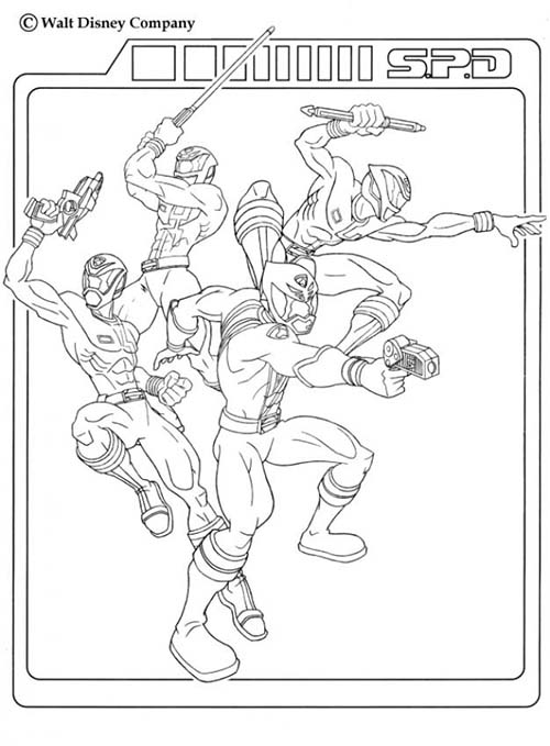 Coloriage power rangers l 39 equipe - Power rangers samurai dessin ...