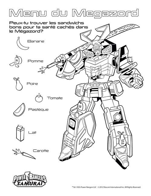Coloriage power rangers megazord - Coloriage power ranger samurai ...