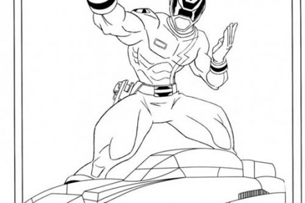Coloriage-POWER-RANGERS-Ranger-et-sa-voiture.jpg