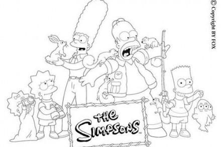 Coloriage-SIMPSON-Coloriage-de-la-famille-Simpson-et-les-ecureuils.jpg