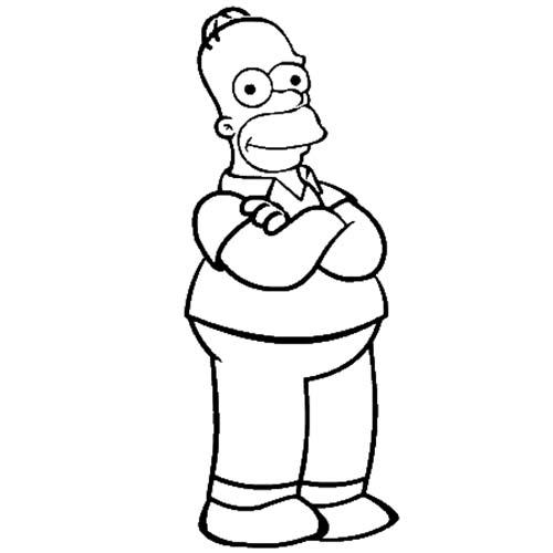 Coloriage simpson dessin homer simpson - Bart simpson coloriage ...