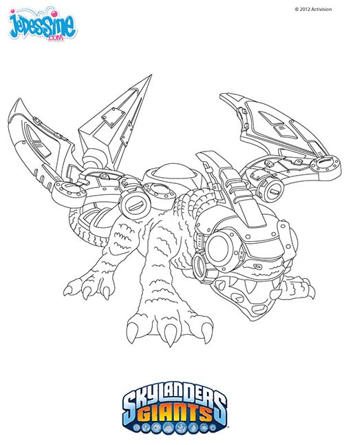 Coloriage skylanders giants coloriage drobot - Coloriage skylanders giants ...