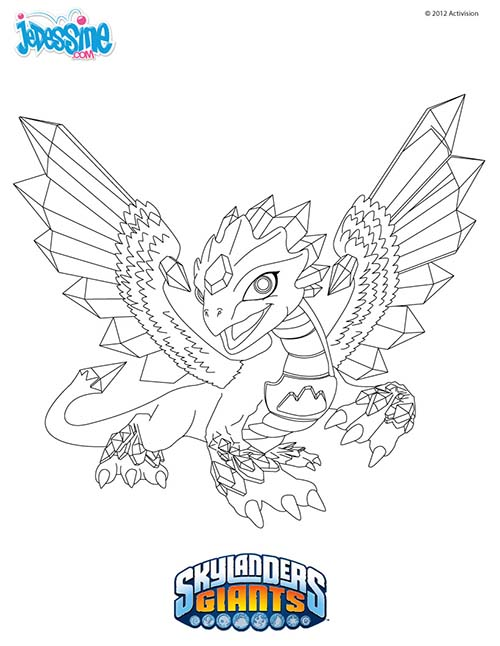 Coloriage skylanders giants coloriage flashwing - Coloriage skylanders giants ...