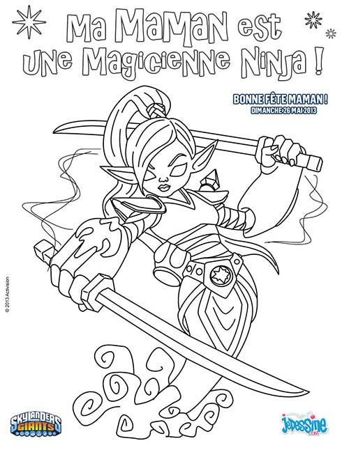 Coloriage skylanders giants coloriage ninjini special fete - Coloriage skylanders giants ...