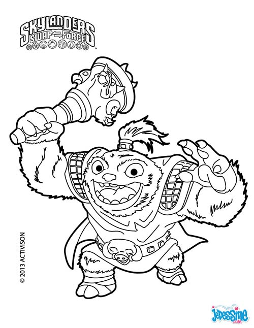 Coloriage skylanders swap force zoo lou - Lou coloriage ...