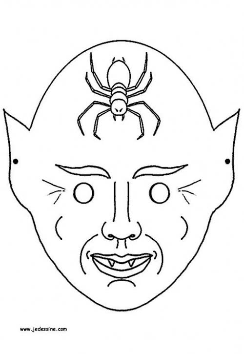 Coloriage squelette halloween coloriage d 39 un masque de - Coloriage squelette halloween ...