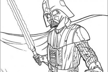 Coloriage star wars imprimer 1001 - Dark vador coloriage ...