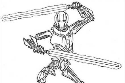 coloriage star wars coloriage star wars de grievous au combat with coloriage star wars en ligne - Coloriage En Ligne Star Wars