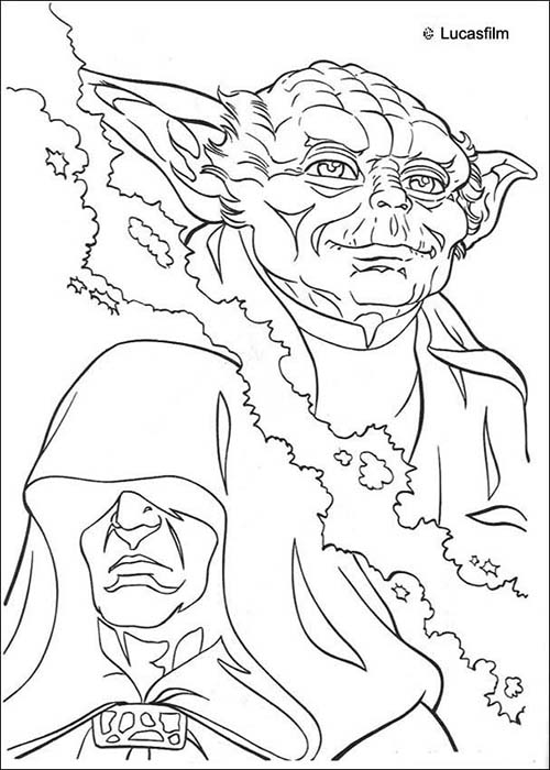 Coloriage star wars coloriage star wars de yoda contre l - Coloriage star wars yoda ...