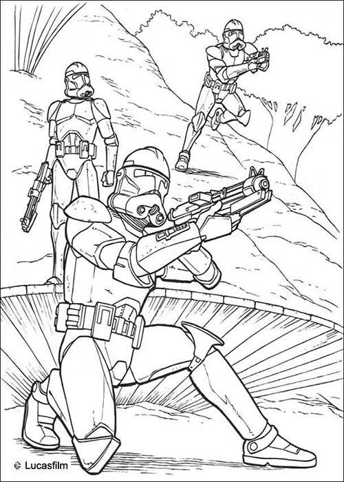 Coloriage star wars coloriage star wars des soldats clones - Coloriage clone star wars ...