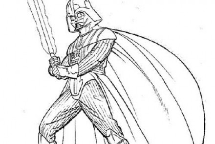 Coloriage star wars coloriage star wars de faucon millenium - Dark vador coloriage ...