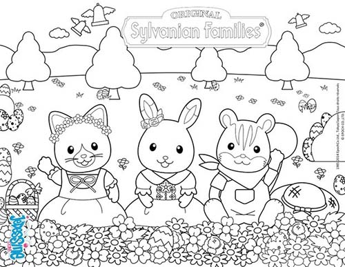 Holiday Coloring Pages Page Of Jesus Coloriage SYLVANIAN FAMILIES Les