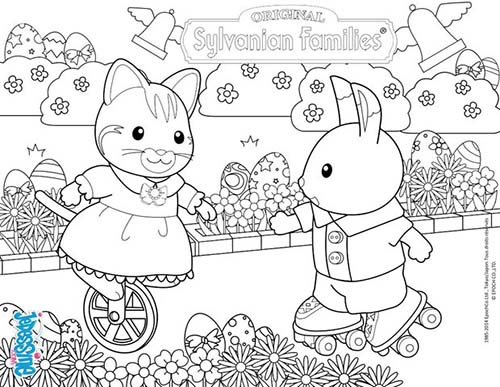 calico critters coloring pages printable - photo#34