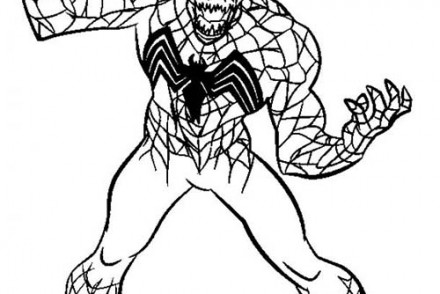 Coloriage spiderman attaque de venom - Photo de spiderman a imprimer gratuit ...