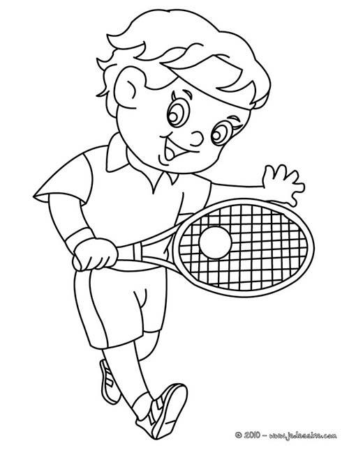 coloriage tennis coloriage d 39 un enfant tennisman. Black Bedroom Furniture Sets. Home Design Ideas